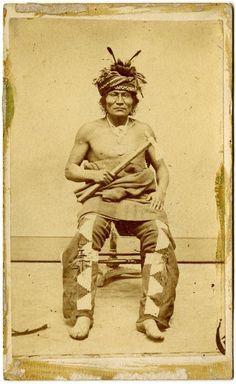 Pawnee man - Ca 1868