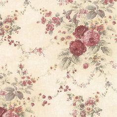 Pin By Annette Matthias On Paper 2 Floral Wallpaper Victorian Wallpaper Rose Bedding