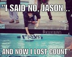 Dammit Jason! She is swimming the mile!