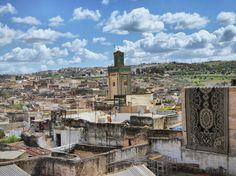 View from the rooftops ancient Fez Medina. #fez #medina #ancient #morocco #localsknow #instagood #tastetravel #tastetravelfoodadventuretours #sunshinecoast #australia #travel #traveler #holiday #trip #tour #fun