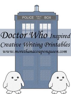 FREE Dr Who Printables for writing! FUN for summer!