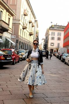 street style, milan fashion week, funny pattern, pattern trend, hottest pattern, Dolce Gabbana pattern, Au Jour le Jour pattern, Kenzo eye p...
