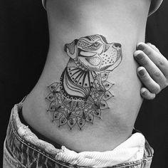 Mandala + Dog Tattoo. Tattoo Ideas for Pet Lovers!