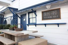 Malibu Farm Cafe | Remodelista  picnic table