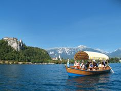 To visit the island in the middle of Lake Bled, you need to travel by gondola, known here as Pletna.