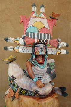 HOPI INDIAN BUTTERFLY MAIDEN KACHINA DOLL by Milton Howard