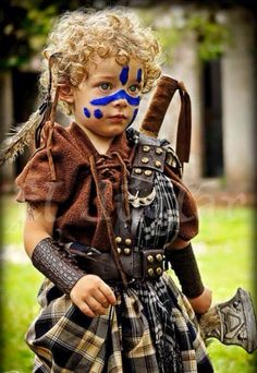 This little warrior would steal the show in OUTLANDER!  Posted on My Heart Will Always Be In Scotland by  Nicole Summers