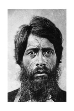 Photographic Print: Maori Man with Facial 'te Moko' Tattoo, 1860 by G. Photographic Print: Maori Man with Facial 'te Moko' Tattoo, 1860 by G. Maori Face Tattoo, Ta Moko Tattoo, Maori Tattoos, Tattoo Art, Maori People, Tribal People, Life Tattoos, Tattoos For Guys, Polynesian People