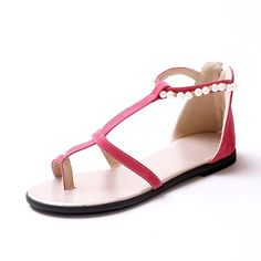 Womans Thong Open Toe Flats Suede Frosted Material Solid Sandals with Bandage