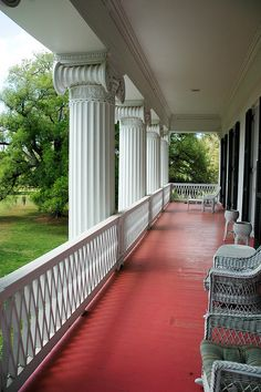 I could so just sit on this porch with a glass of sweet tea and a good book and let time go by! :) Madewood Plantation-5204 by MSMcCarthy Photography, via Flickr