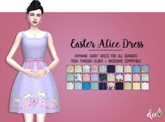 Easter Alice Dress - Deetron Sims