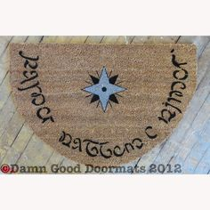 Elvish LOTR Hobbit Tolkien  Speak Friend and Enter by DamnGoodDoormats, $70.00