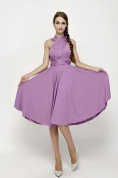 138 Floral Lavender Short Bridesmaid Dress Convertible Dress [st-53] - $49.50 : Infinity Dress   Convertible Dress Bridesmaid Dresses Online, TinnaInfinityDress