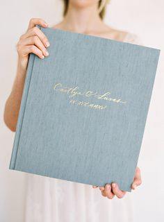 "California-based Heirloom Bindery offers couples and photographers alike high-quality wedding albums with linen covers. Their most popular book size is 12"" x 14,"" but they offer five other options. All of their pages are made of cotton paper, you can foil-stamp the cover using custom artwork or text, and, should you need some help, they offer full design services, too. Heirloom Bindery Albums, from $1,750, heirloombindery.com."