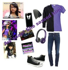 """""""Gender Swapped Aphmau"""" by sparklecookie21 ❤ liked on Polyvore featuring Bergans, Maison Margiela, Dsquared2, Converse, Casetify and Beats by Dr. Dre"""