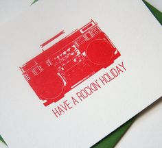 Letterpress Christmas Card - BOOMBOX!