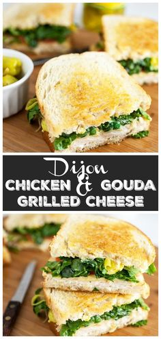 This Zesty Dijon Chicken and Gouda Grilled Cheese sandwich makes for a perfect lunch or easy dinner. It's tasty and super easy to prepare. This grilled cheese sandwich has chicken, Gouda cheese, tangy peperoncini, and honey mustard. It's like an Italian deli sandwich made at home! #ad #mezzetta #dontforgettamezzetta #grilledcheese #chicken #sandwich