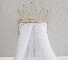 Crown Cornice with Tulle Sheers | Pottery Barn Kids