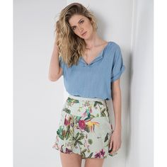 shoulder - BLUSA JEANS DECOTE-JEANS - R$ 179,00