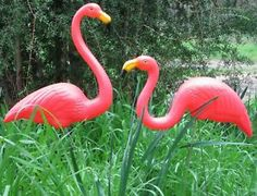 ONE Cool Pair OF Pink Flamingos Garden Decoration NEW | eBay