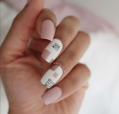 simple color block nails inspired by my last design! for this I used: Blush White on Time Chic Nails, Classy Nails, Stylish Nails, Swag Nails, Nail Manicure, Gel Nails, Color Block Nails, Nail Art Designs Videos, Cute Nail Art Designs