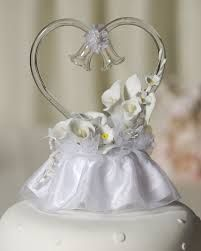 Blown Glass Wedding Cake Toppers