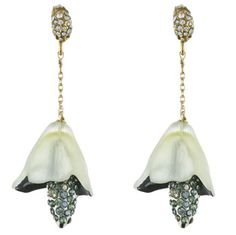 Alexis Bittar Grey Garden Bell Flower Earrings - and that's why I got my ears pierced finally!!!