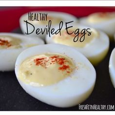 these deviled eggs are far more healthier Party Fun, Party Snacks, Appetizers For Party, Healthy Thanksgiving Recipes, Healthy Recipes, Healthy Deviled Eggs, Game Day Food, Nutrition Tips, Holiday Ideas