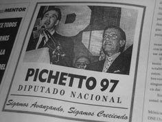YPF: Foto del senador Pichetto cuando en 1997 apoyaba la privatización de YPF. Desde mañana apoyará la estatización.