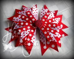 Valentine Boutique Spiked Layer Bow  by HartOfKarenCreations, $7.50