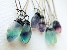 Fluorite Dangle Earrings:  Make these alluring crystal earrings your new wardrobe staple! Simple and comfortable enough to wear every day, intriguing