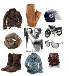 A Ride with Steve Bike Style, Moto Style, Motorcycle Style, Motorcycle Outfit, Steve Mcqueen Style, Cool Outfits For Men, A Well Traveled Woman, Biker Wear, Rocker Look