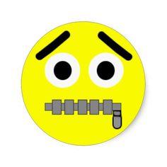 Zipper Smiley Face Sticker by Rajee1