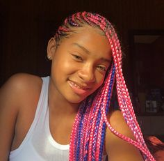 53 Box Braids Hairstyles That Rock - Hairstyles Trends Box Braids Hairstyles, Rock Hairstyles, Winter Hairstyles, Trending Hairstyles, Pretty Hairstyles, Hairstyle Ideas, Cute Box Braids, Breaking Hair, Red Hair Color