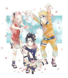 Anime: Naruto Personagens: Uchiha Sasuke, Haruno Sakura e Uzumaki Naruto TEAM 7 Naruto And Sasuke, Naruto Team 7, Naruto Cute, Naruto Funny, Naruto Shippuden Sasuke, Sakura And Sasuke, Sakura Haruno, Boruto, Wallpapers Naruto