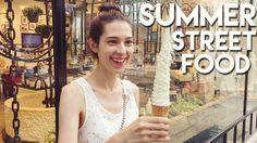 Korean Summer STREET FOOD in Myeongdong 국제커플 규호와 세라 여름 길거리 음식 (자막 CC)