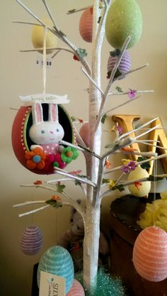 Easter tree at Hoopla!