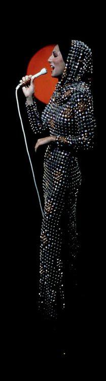 Cher in Bob Mackie design. Divas Pop, Elsa, Bob Mackie, Celebs, Celebrities, Costume Design, My Idol, Style Icons, Beautiful People