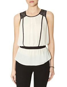 Loose Shoulder Inset Top from THELIMITED.com #TheLimited