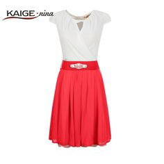 Find More Dresses Information about KaigeNina New Fashion Hot Sale Women Clothing O Neck Sexy Bud Splicing Bump Color Chiffon Dress 2117,High Quality chiffon bolero,China chiffon flutter sleeve top Suppliers, Cheap chiffon halter from kaige on Aliexpress.com
