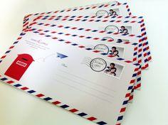 Wedding invitation -  International letter   Convite de casamento - carta internacional