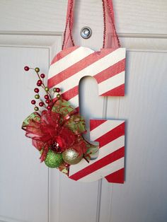 Christmas themed Hanging Letter on Etsy, $21.50