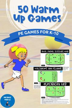 Teacher Resources, Teacher Pay Teachers, Teaching Ideas, Pe Games, Learning Games, Primary Games, Warm Up Games, Physical Education Lessons, Elementary Pe