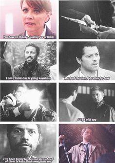 [GIFS] Cas always picks Dean, even God knows who Cas loves