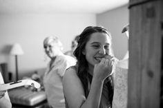 Hotel Albuquerque Wedding Photography bride's maid helping out