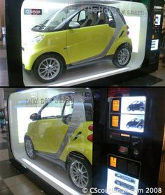 Real SMART car was placed in a giant vending machine in Japan. [link]