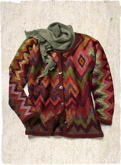 Electra Pima Cotton Cardigan by Kaffe Fassett
