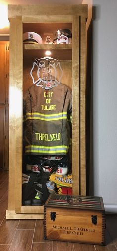 My brother was a fireman. He passed away due to Lymphoma at the age of He wo. My brother was a fireman. He passed away due to Lymphoma at the age of He would have loved this. Firefighter Bar, Firefighter Home Decor, Volunteer Firefighter, Fire Crafts, Fire Dept, Fire Department, Fire Trucks, Shadow Box, Decoration