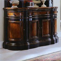 Hooker Furniture Preston Ridge Shaped Buffet in Cherry/Mahogany Finish