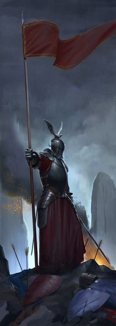 Victorious Knight by Mischeviouslittleelf | Digital Art / Drawings & Paintings / Fantasy | Character warrior knight